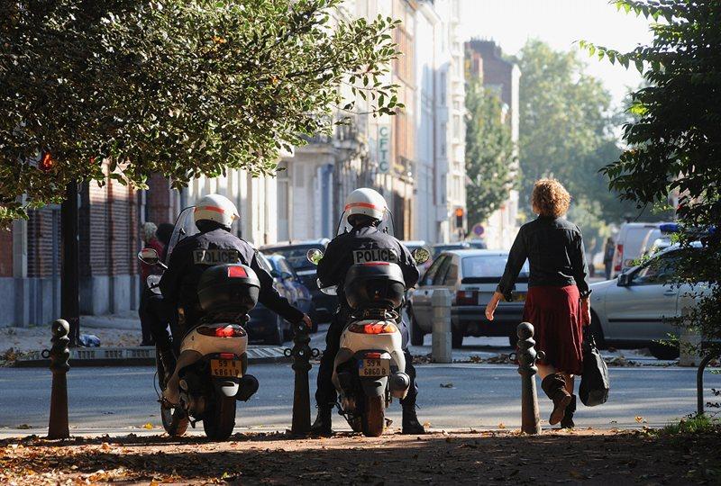 Policiers en scooter Lille
