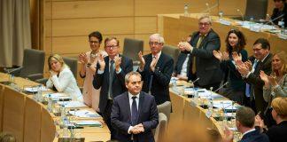 Lille (59) : seance d'installation de l'assemblee regionale au Conseil regional de la region Nord Pas de Calais Picardie (04/01/2015)