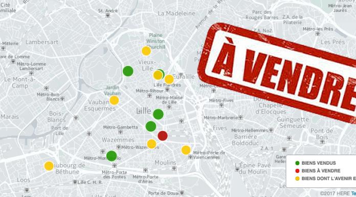 Carte de vente du patrimoine de Lille