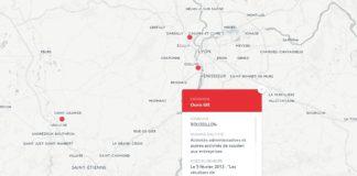 Carte pollution Lyon