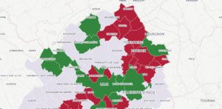 La loi Besson impose aux communes de plus de 5000 habitants d'aménager une aire permanente d'accueil (25 à 40 places) pour les gens du voyage. Les villes de la MEL qui ne respectent pas la loi sont en rouge sur la carte; celles qui l'appliquent sont en vert. Les autres n'ont pas d'obligation.
