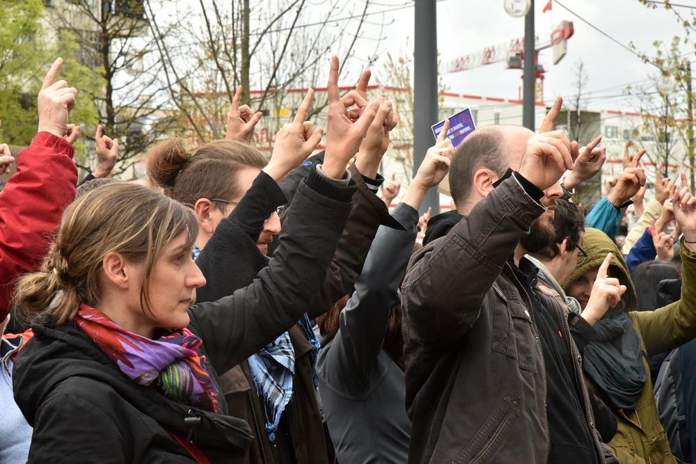 Manifestation du collectif Vent d'asso. photo : M.Remy