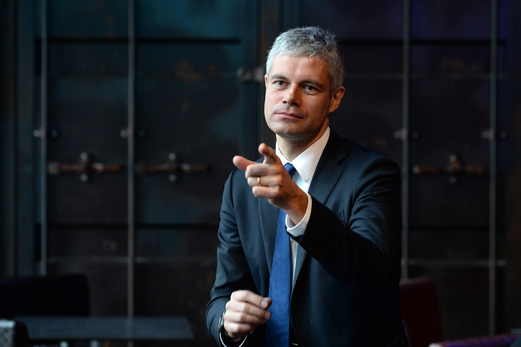 Conference de presse de Laurent Wauquiez
