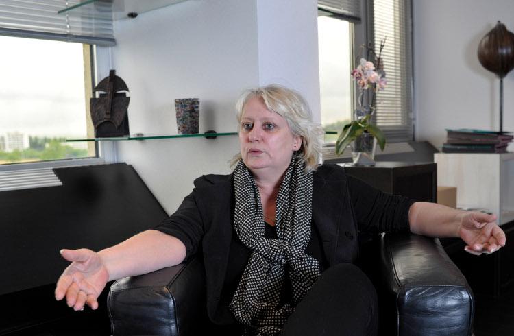 Michèle PICARD, maire PCF de Venissieux - Photo Rolland QUADRINI / KR Images Presse (2013)