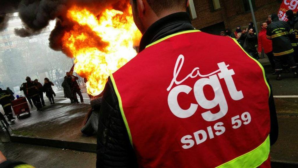 Les pompiers professionnels du Nord sont en grève