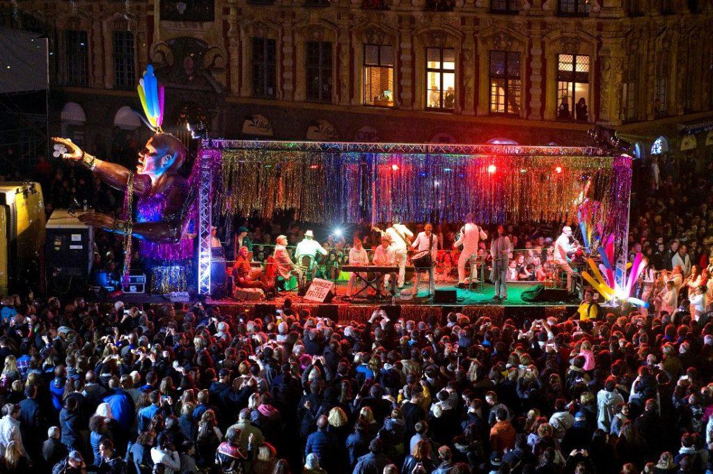 Grande parade d'ouverture de la saison culturelle de Lille 3000 Renaissance. Photo: MaxPPP / Sébastien Jarry