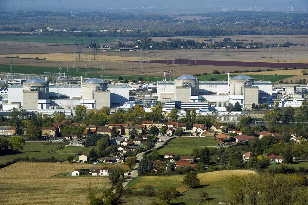 Les quatre réacteurs à eau pressurisée en activité. Le premier réacteur (graphite gaz) du site est à l'arrêt depuis 1994. Photo : R.Quadrini/KR Images Presse.