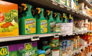 Un rayon pesticide dans une jardinerie - Photo: Eaux et Rivières de Bretagne (DLG)