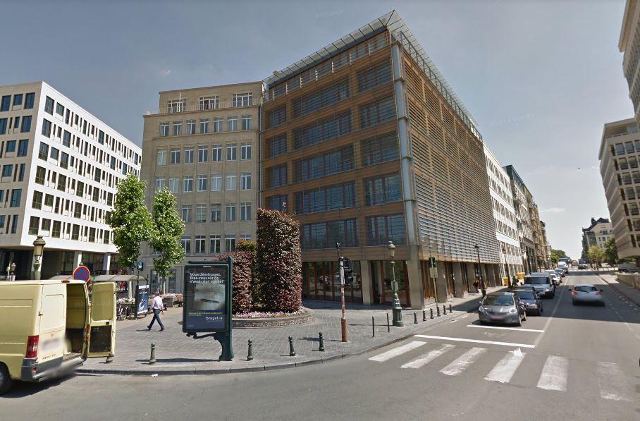 Les locaux d'Airbus dans le quartier européen de Bruxelles, au 28, avenue Marnix (Google Street View).