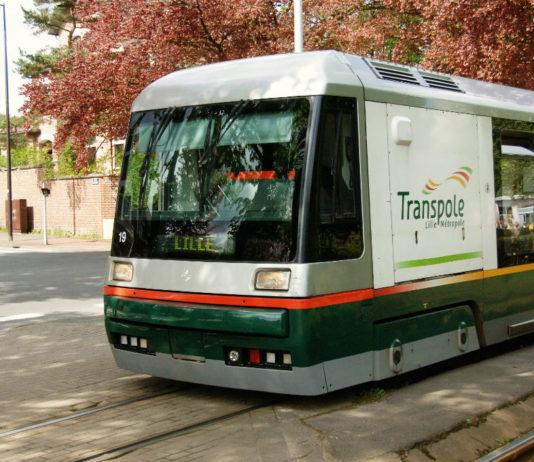 Tramway de Lille Roubaix Tourcoing exploité par la société Transpole, filiale de Keolis. Photo : Sebastien JARRY/MAXPPP