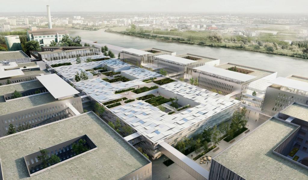 Image du projet de futur CHU sur l'île de Nantes