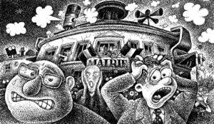 dessin presse mairie de mions - Copie