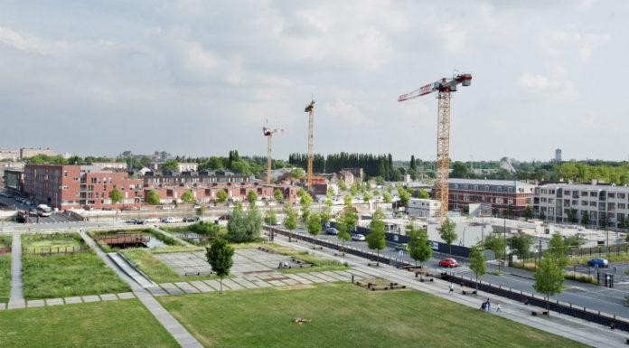 Immeubles en construction dans le quartier des rives de la Haute Deule. Copyright : Andia.fr