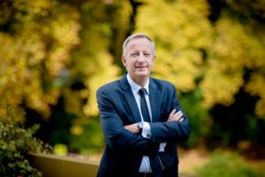 Olivier Richefou, président du Conseil départemental de la Mayenne en septembre 2017 / Photo: Andia