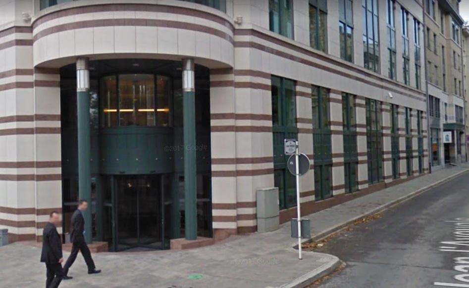 Devant l'adresse du siège social de Nethuns à Luxembourg. Image Google street.