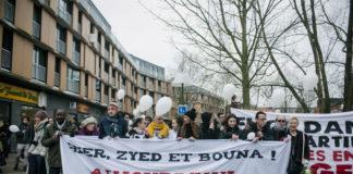 Marche Blanche organisée en mémoire de Selom et Matisse, le 13 janiver 2018. Photo : Julien Pitinome