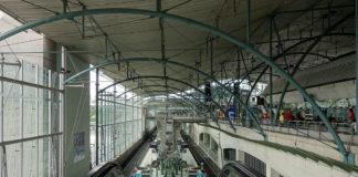 La gare de Lille Europe est la seule gare en France à disposer d'un périmètre de protection permanent pour contrôler l'accès à des trains, en l'occurence les Thalys. Photo : Creative Commons / Velvet