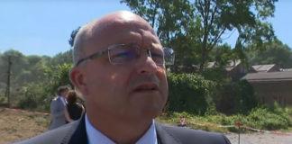 Damien Castelain, président de la Métropole européenne de Lille, a répondu aux questions de France 3 Hauts-de-France sur le remboursement de ses frais. Capture d'écran
