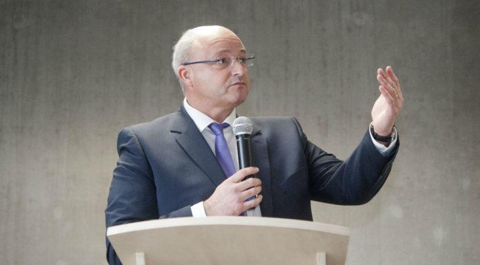 Damien Castelain, le président de la Métropole européenne de Lille. Photo : Sebastien JARRY/MAXPPP