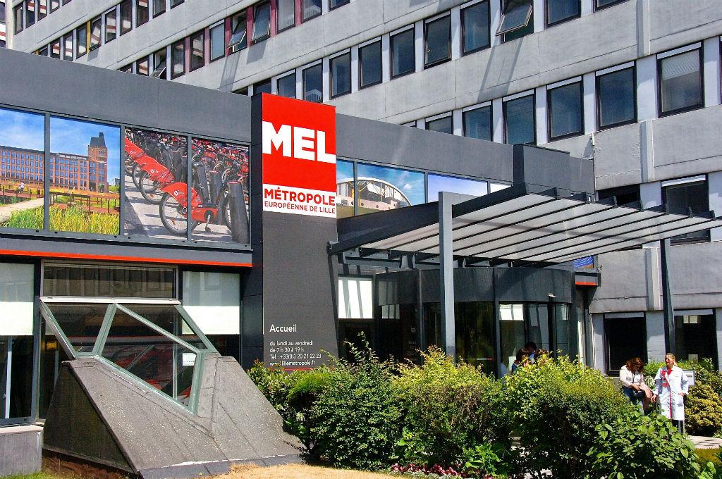 Le siège de la Métropole européenne de Lille. Photo : Sebastien JARRY/MAXPPP