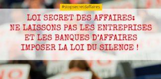 Stop Secret des affaires