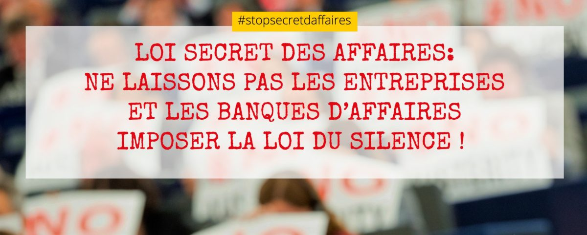Stop Secret des affaires