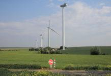 Parc d'éoliennes en cours de construction dans l'Aisne. Crédit : Carl Cordonnier/Dailylife