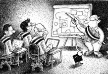 La formation des élus locaux, financée sur fonds publics, est souvent dispensée par des officines dépendant de partis politiques dont les formateurs sont parfois aussi des élus. Illustration : Jean-Paul Van der Elst