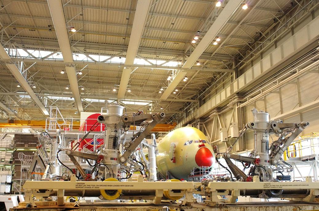 Toulouse Blagnac (31) : Le site Jean-Luc Lagardre de montage des Airbus A380