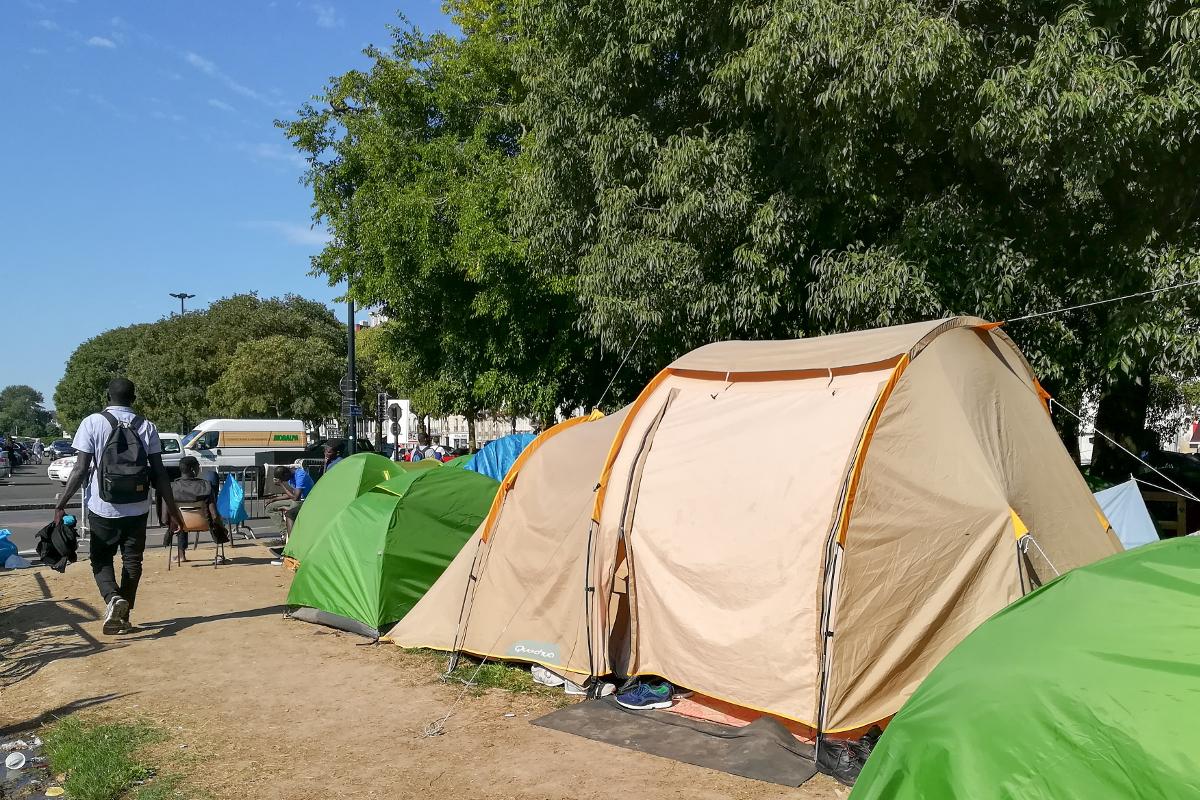 Migrants – square Daviais – Nantes (c) Mediacités