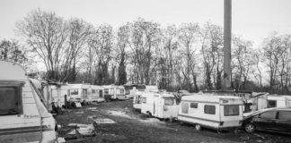 Camp rom de Pont Royal, à Lille, le 19 janvier 2019. Photo : David Buisine