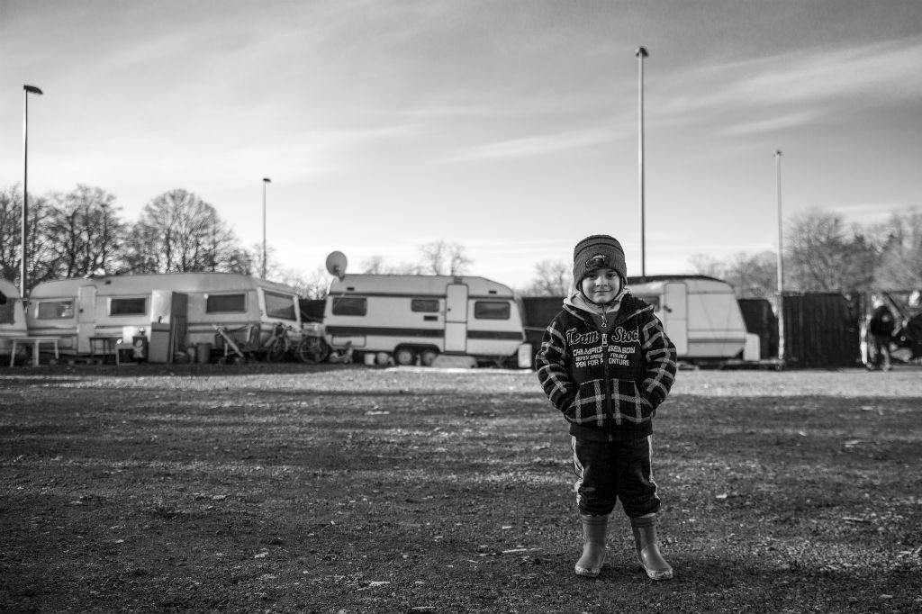 Camp de la façade de l'Esplanade. Lille. Janvier 2019. Photo : David Buisine