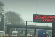 Pic de Pollution - périphérique de Lille. Capture d'écran France TV