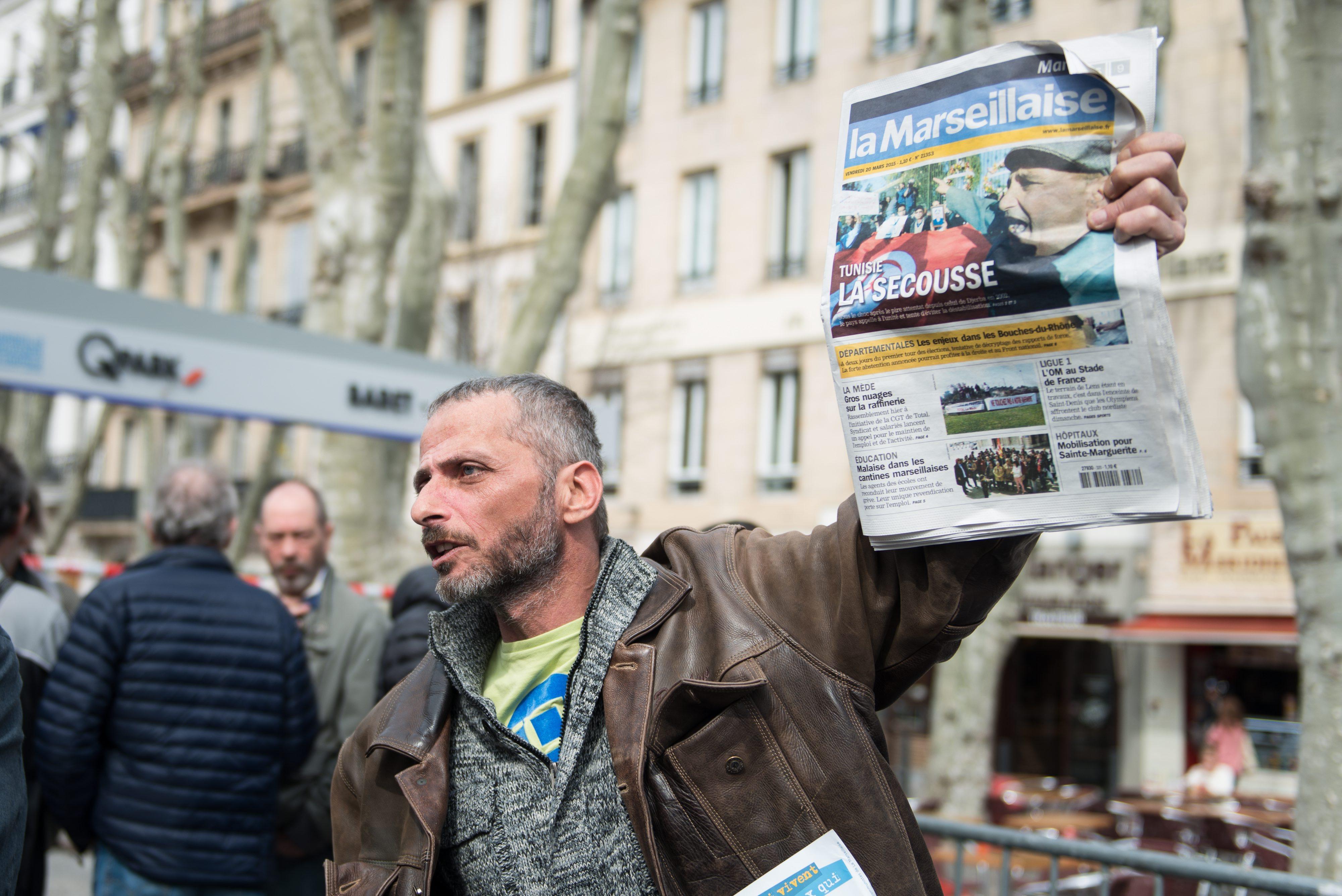Manifestation des salaries de La Marseillaise