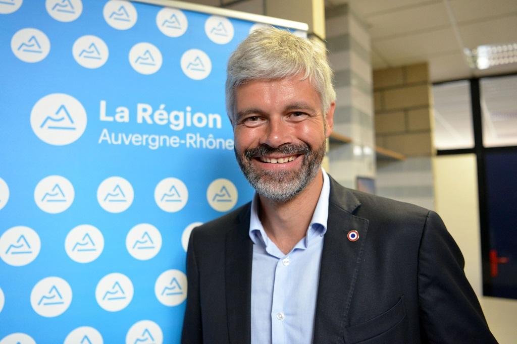 Region Rhone Alpes: deplacement Laurent Wauquiez