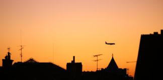 avion coucher de soleil toulouse