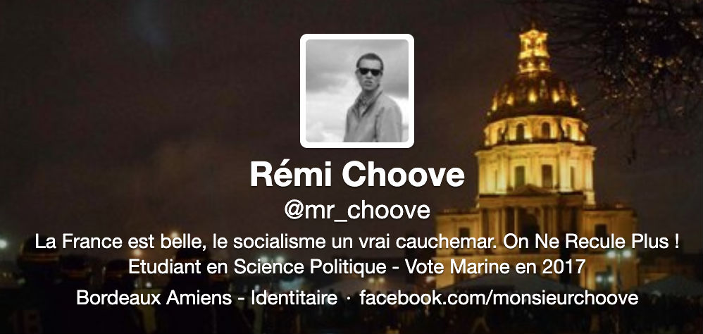 Compte Twitter Mr Choove en 2014