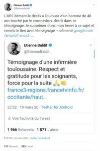 Démenti Etienne Baldit