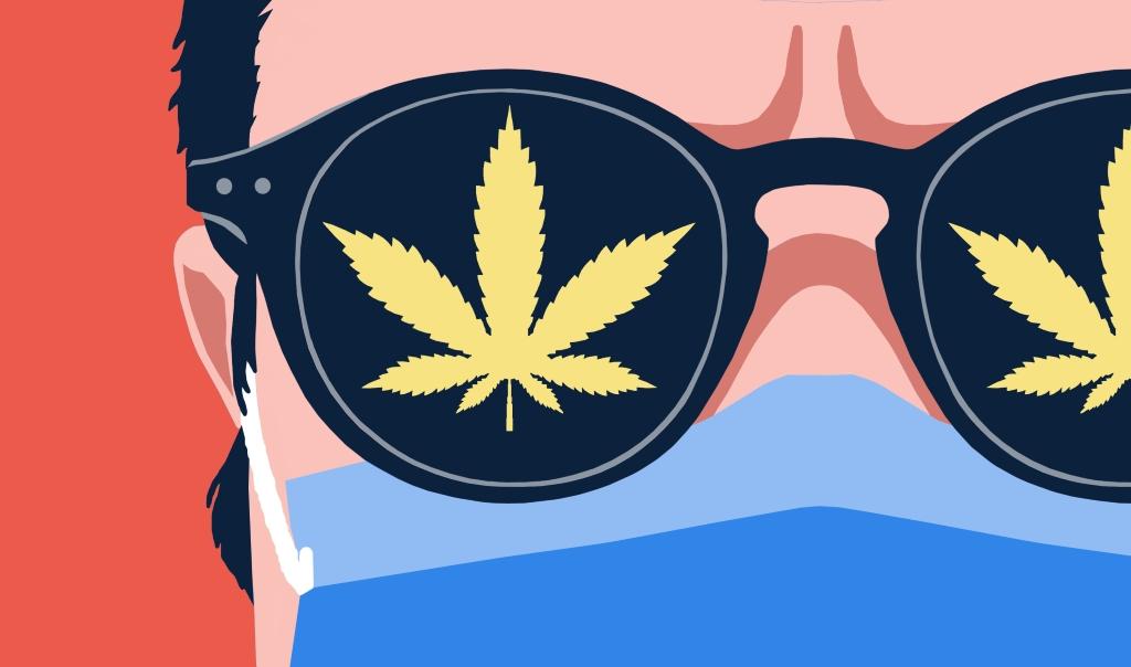 image cannabisfond rouge