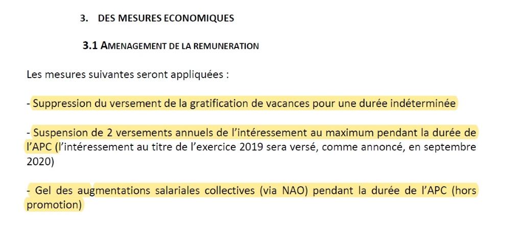 Synthèse accords signés le 17 juillet 2020 – doc ADL – rémunérations – capture 2
