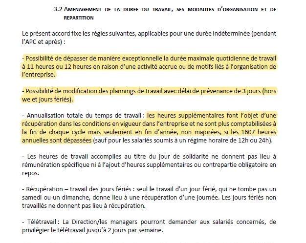 Synthèse accords signés le 17 juillet 2020 – doc ALD – temps de travail – capture 3