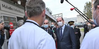 CHU Lille visite Castex