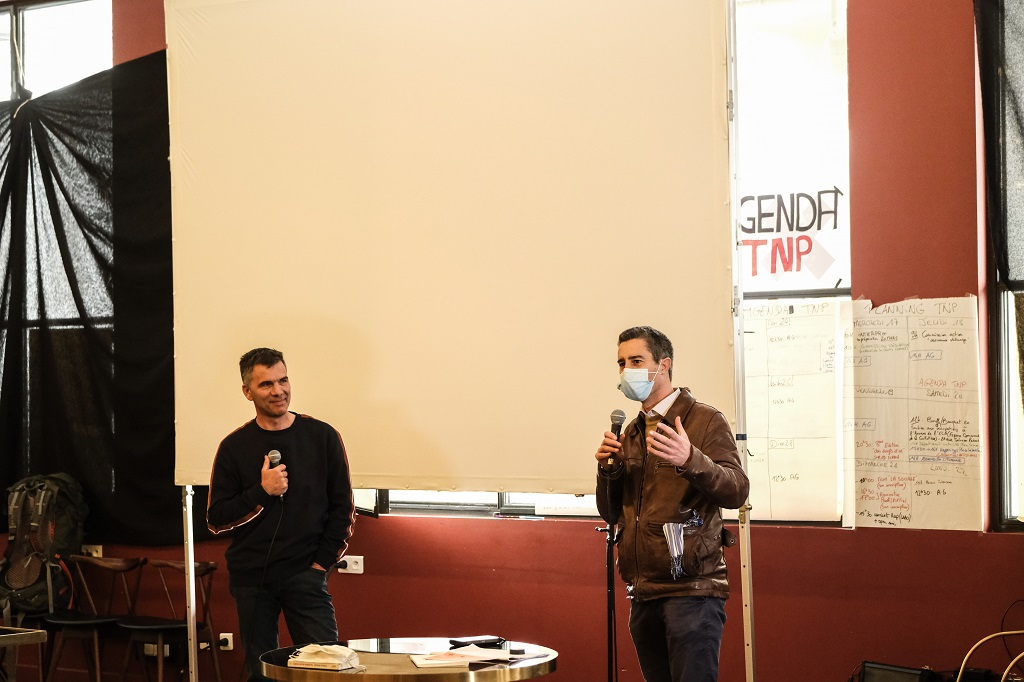 FRANCE – FRANCOIS RUFFIN AND GILLES PERRET AT THE TNP IN VILLEURBANNE