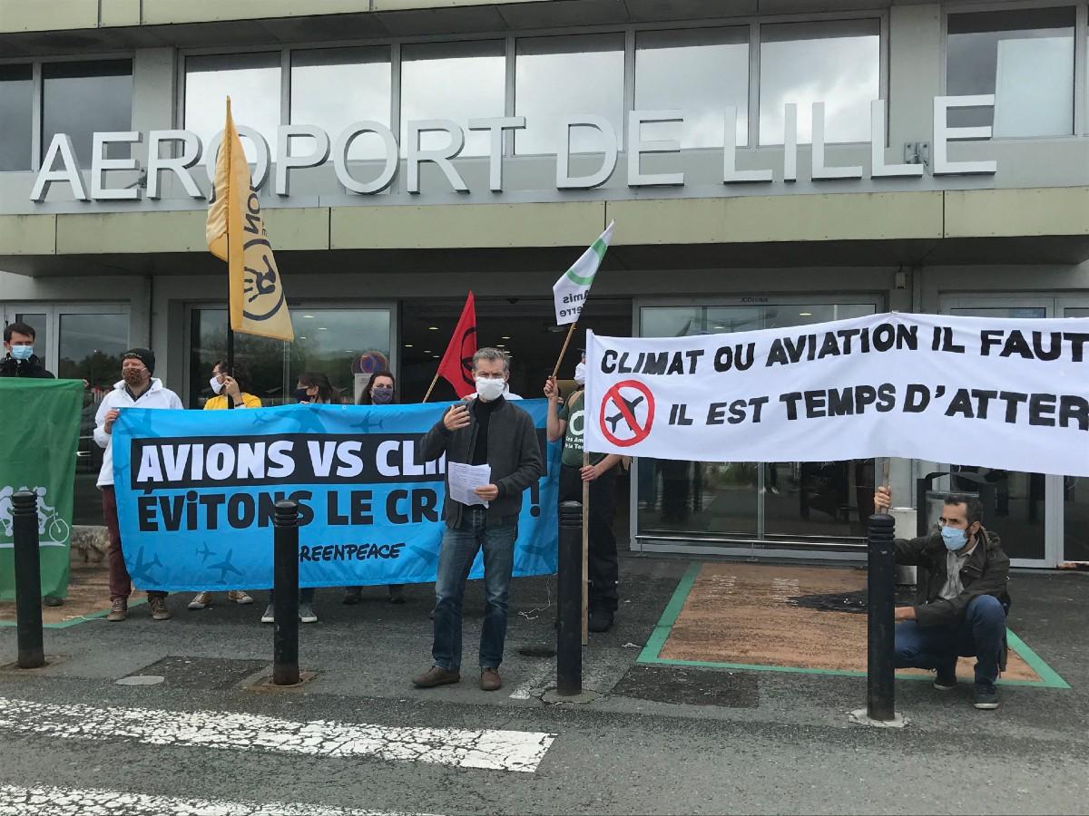 Aeroport de Lille manif
