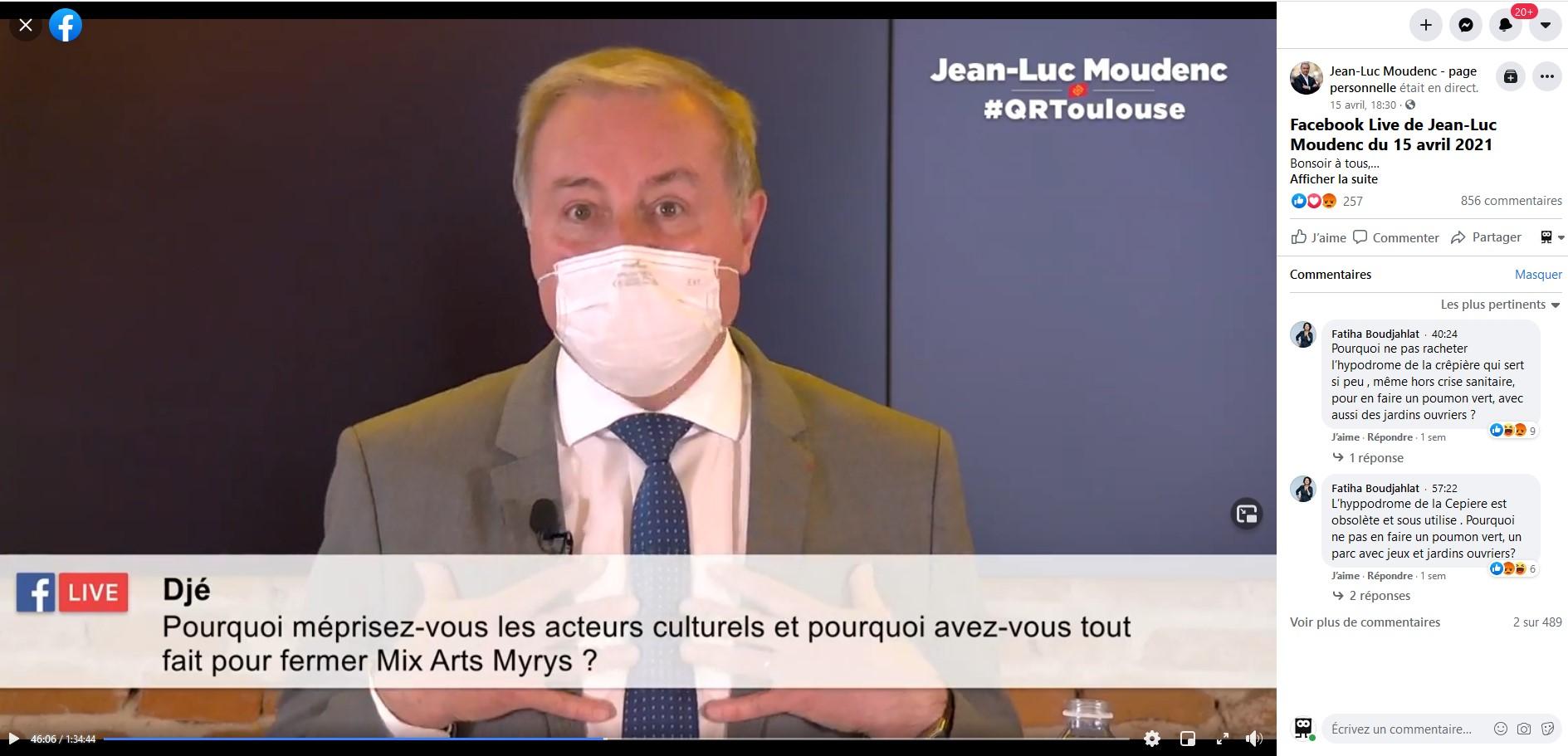 Jean-Luc Moudenc Facebook live
