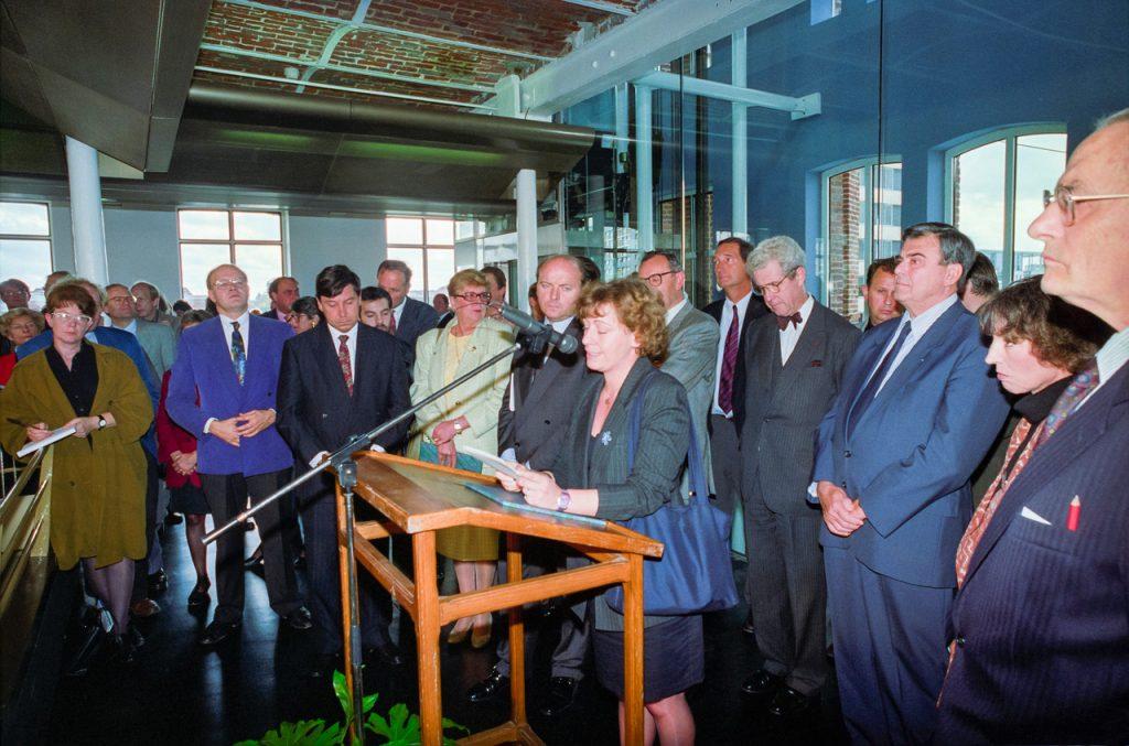 Inauguration du Centre National des Archives du Monde du Travail. Roubaix. 5 octobre 1993