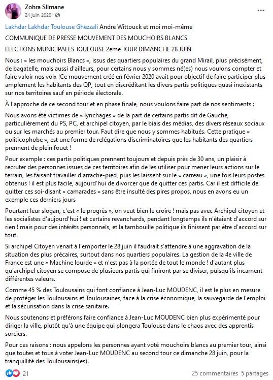 Appel vote Moudenc Slimane