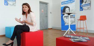 Christelle Morancais presente son projet le 8 juin a Nantes (c) Thibault Dumas