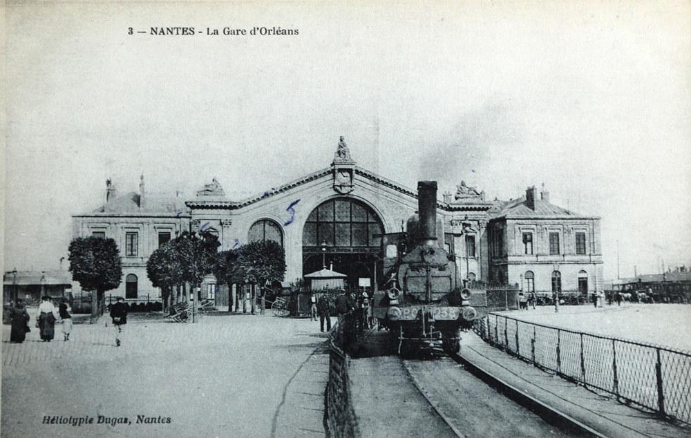 Carte postale gare de Nantes